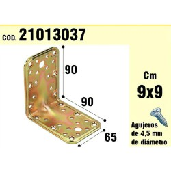 Soporte Para Madera Ángulo  65x90x90 mm. Espesor 2,5 mm.