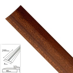 Tapajuntas Adhesivo Para Moquetas Aluminio Sapelli 200,0 cm.