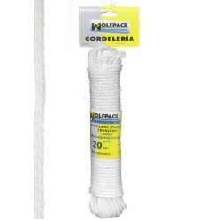 Cuerda Trenzada Plástico Blanca (Madeja 20 m.)