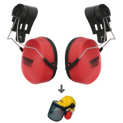 Recambio Protector Auditivo Para Casco Con Visera, Protector Facial De Rejilla y Protector Auditivo Maurer Modelo 99790