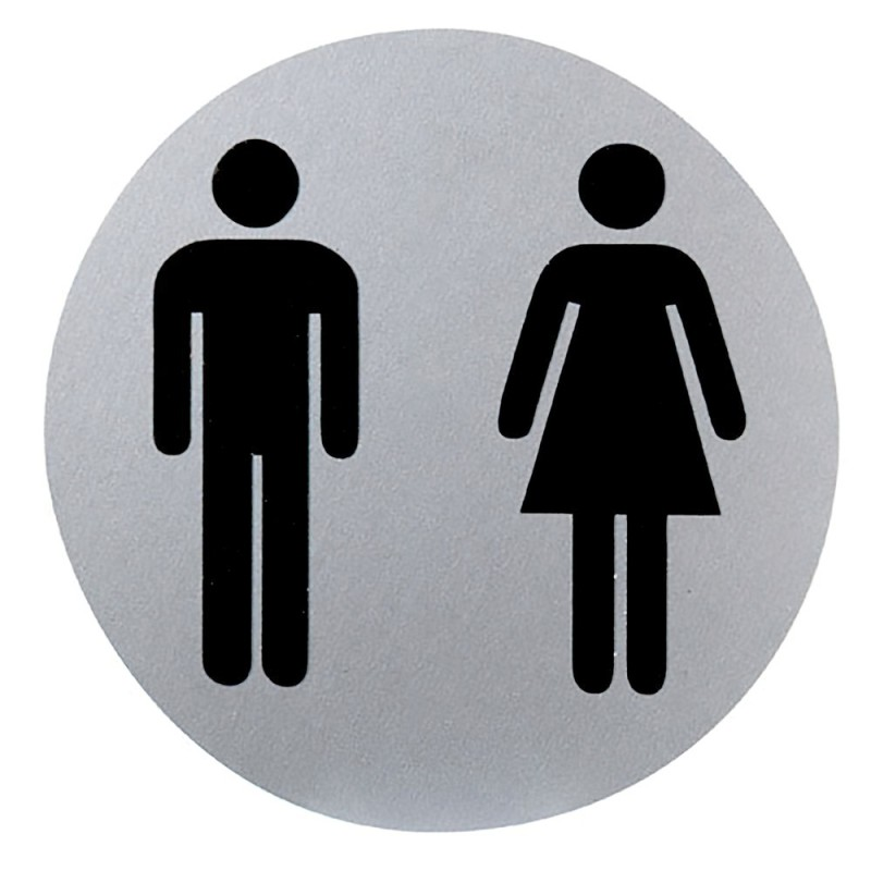 Cartel aluminio ba o hombre mujer 12 cm ferreter a hermida - Cartel bano ...