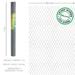 Enrejado Triple Torsion 13/ 100 cm. Rollo 50 Metros Uso Domestico