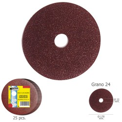 Disco Lija Hierro 178x22 mm. Grano  24 (Paquete de 25 unidades)