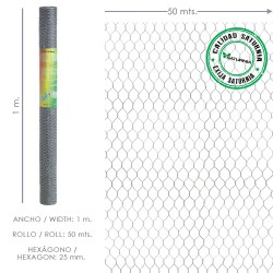 Enrejado Triple Torsion 25/ 100 cm. Rollo 50 Metros Uso Domestico