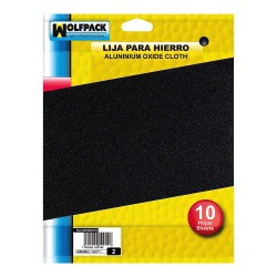 Lija Hierro 2 Grueso (Pack 10 Pliegos)