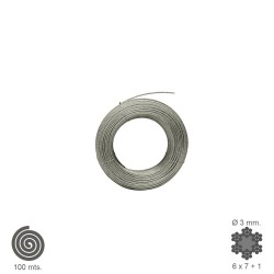 Cable Galvanizado   3  mm. (Rollo 100 Metros) No Elevacion