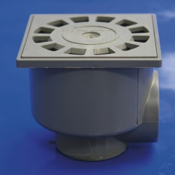 Sumidero Sifónico PVC T-87  10x10  50-40 V-H
