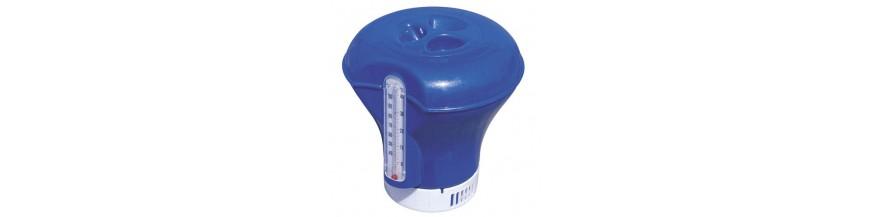 Dispensadores de cloro y termómetros